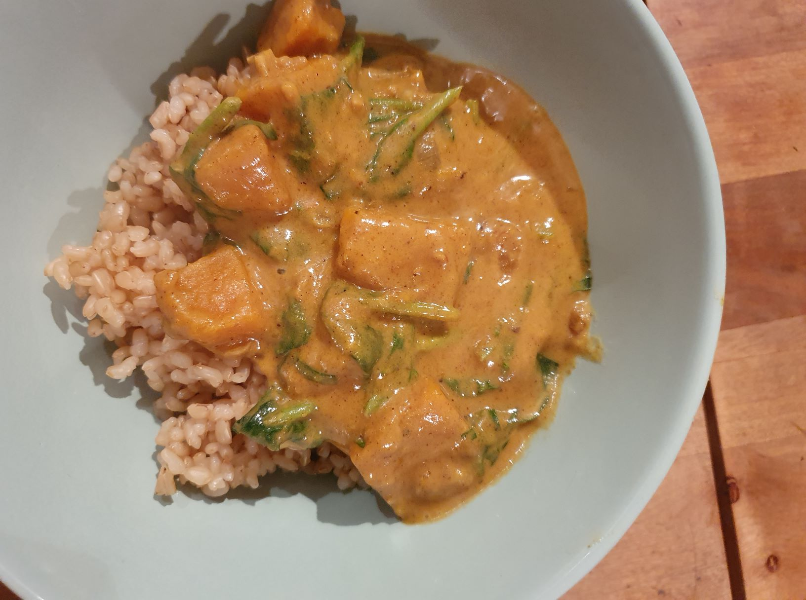 Vegan Pumpkin Spinach Curry perfect for fall