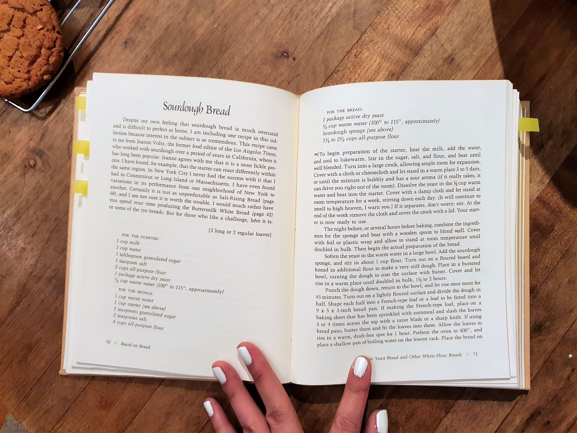 James Beard's Sourdough Bread recipe from his book Beard on Bread.