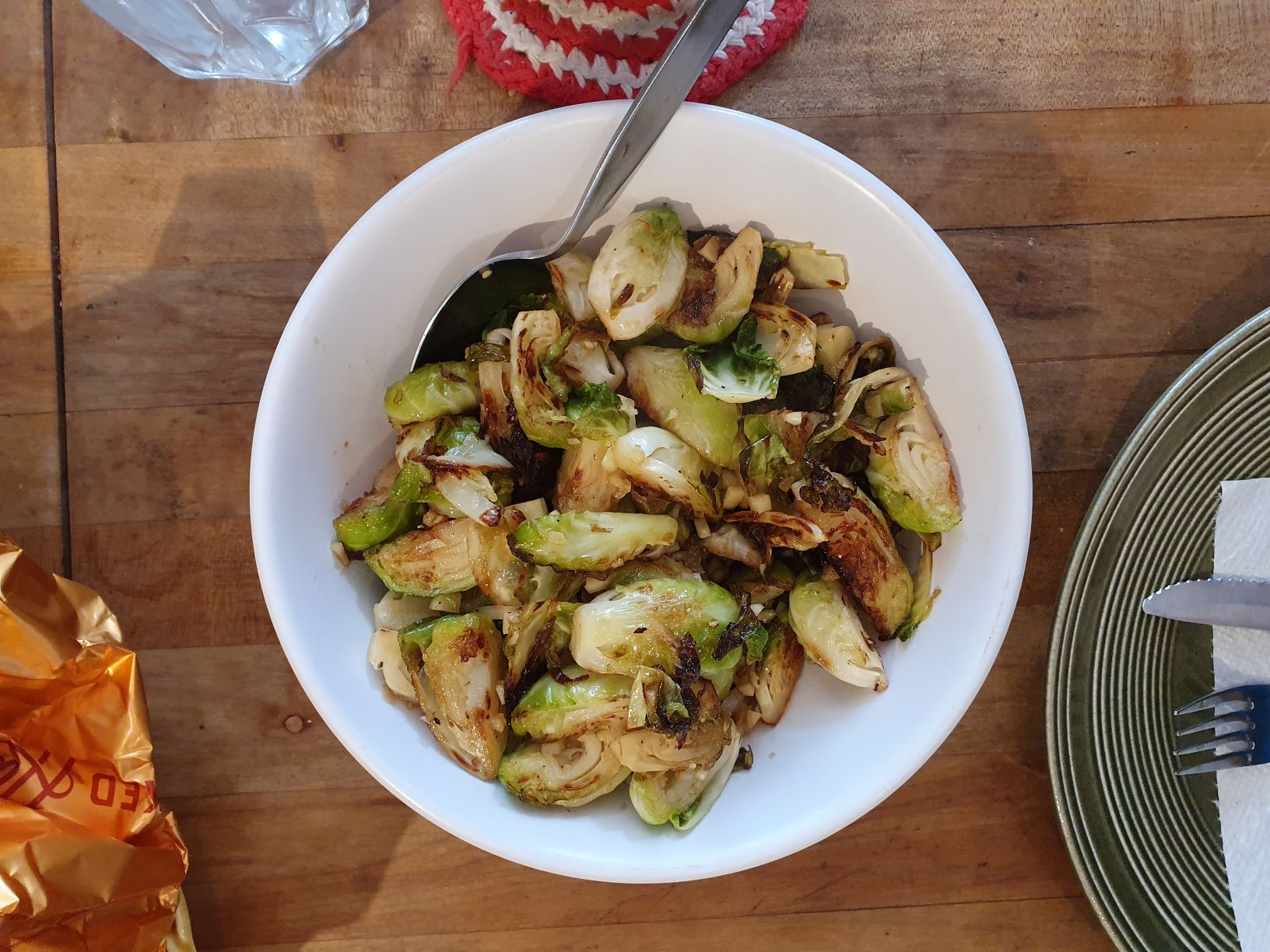 Hone roasted brussel sprouts a pefect holiday side dish.
